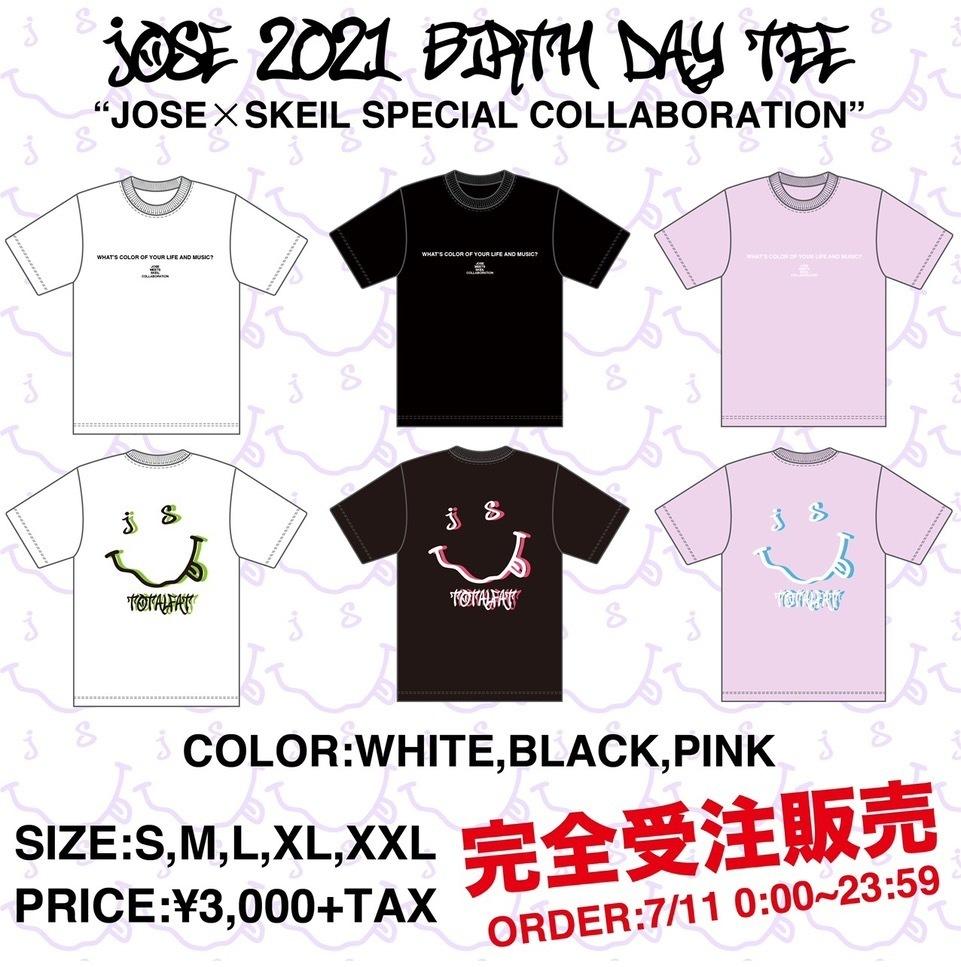 【 受注生産 】Jose生誕記念Tシャツ「Jose×SKEIL special collaboration」(ライトピンク)