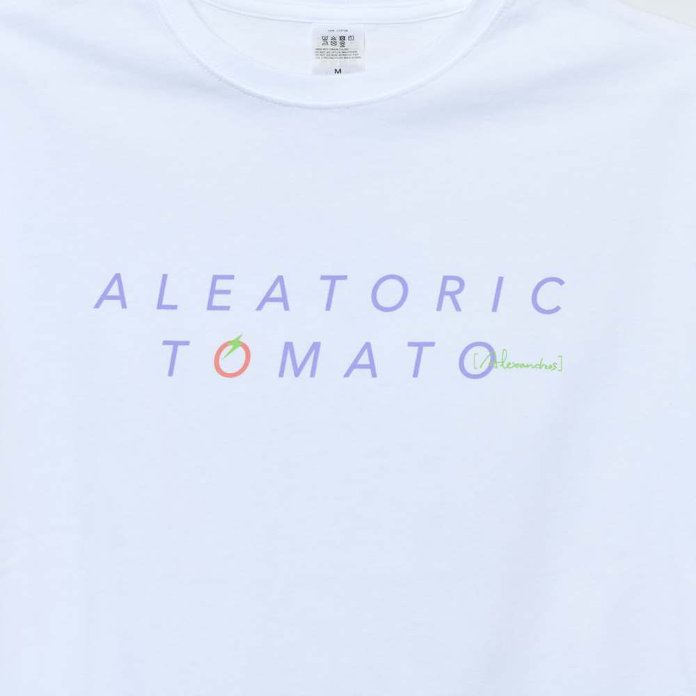 ALEATORIC TOMATO Tee A(Purple Logo)